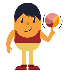 man spinning a ball on white background vector image
