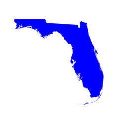 map florida vector image