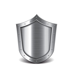 metal shield isolated vector image
