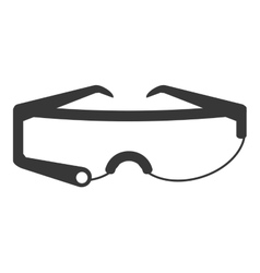 Modern frame glasses icon vector