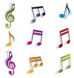Musical notes set vector