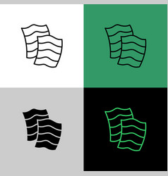 nori seaweed sheets thin linear simple icon vector image
