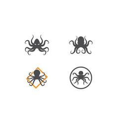 Octopus logo ilustration vector