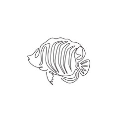 One continuous line drawing cute regal vector
