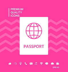 Passport symbol icon vector