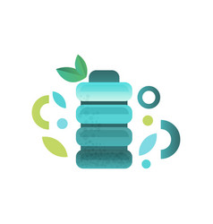 plastic bottle fresh water vector image