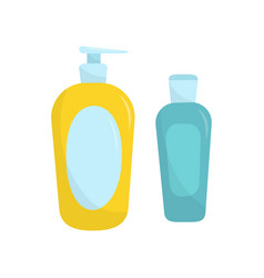 plastic bottle of liquid soap and shampoo vector image