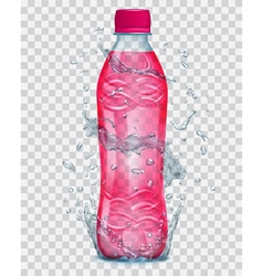 Plastic bottle with juice vector image