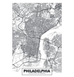 poster map city philadelphia vector image