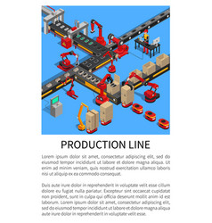 production line conveyor for smartphones creation vector image
