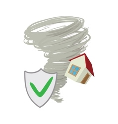 Property insurance icon cartoon style vector image