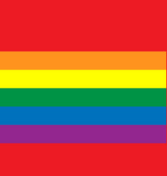 Rainbow lgbt flag gay pride movement oficcial vector