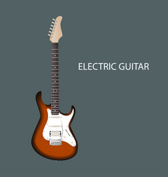 realistic electric guitar eps10 vector image