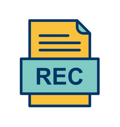 Rec file document icon vector