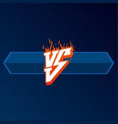 Red versus logo with blue board vs letters vector