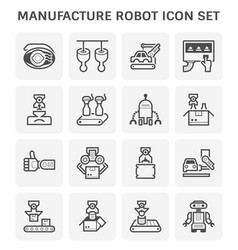robot production icon vector image