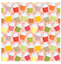 seamless jars with jem pattern vector image vector image