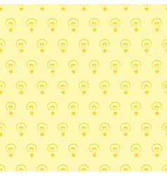Seamless pattern or background with light bulb vector image vector image