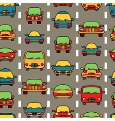 seamless pattern transportation cars vector image
