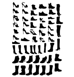 Shoes silhouette eps10 vector