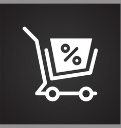 shop cart icon on background for graphic and web vector image