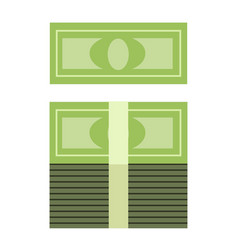 Stack of money in a roll vector
