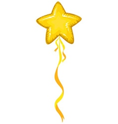 Star shape balloon in yellow color vector