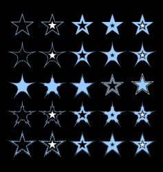 stars design elements vector image