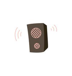studio music audio speakers cartoon icon flat vector image