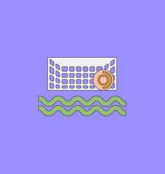 Swimming water polo equipment vector