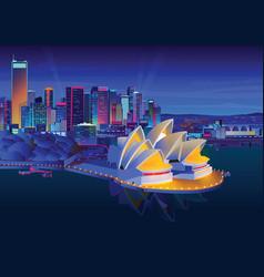 Sydney opera house at vector