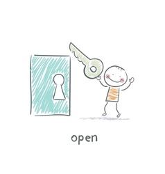 The key opens the door vector image