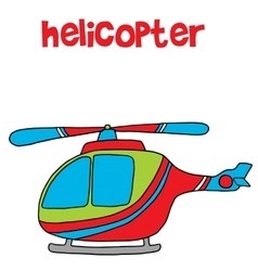 Transportation of helicopter cartoon for kids vector
