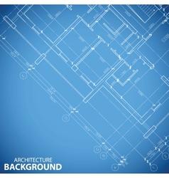 Unique building plan background vector