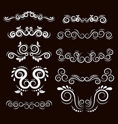 Vintage frames and scroll elements7 vector