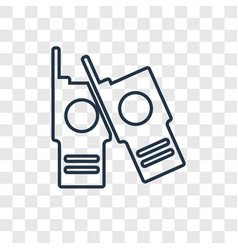 walkie talkies concept linear icon isolated on vector image