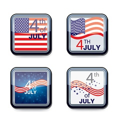 web app icon Independence day 4th of July vector image