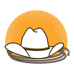 wild west symbol with cowboy western hat vector image