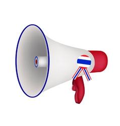 A Loudspeaker or Megaphone on White Background vector image vector image