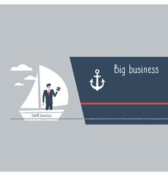 Business size comparison or enlargement vector image vector image