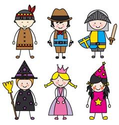 Children dressed vector