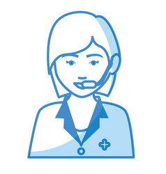 Medical call center agent vector