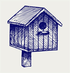 Nest box birdhouse vector image vector image