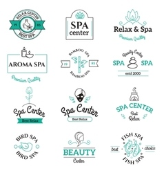 Spa beauty and body care logo templates vector image