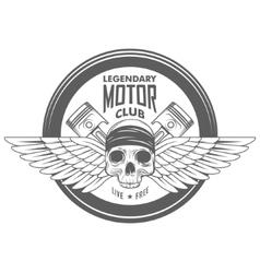vintage motorcycle label badge vector image
