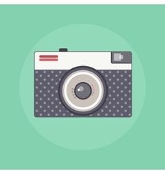 Vintage Retro camera color flat vector image