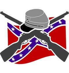 American Civil War Confederacy vector image vector image
