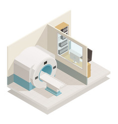 medical diagnostic equipment isometric vector image vector image
