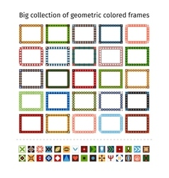 Hand drawn frames set vector image vector image