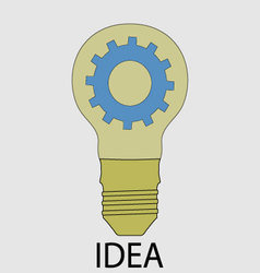 Idea icon flat design vector image
